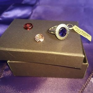 Jewelry - Tri colored interchangeable fashion ring.